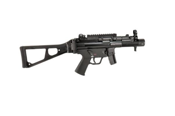 Heckler & Koch SP5K Kal. 9mm mit Picatinny Schiene und tactical Gurt